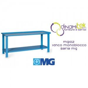 MG102 MONOBLOC TABLE TOP IN SHEET METAL MM 1500X700X890H MG MG SERIES Dinamitek 1