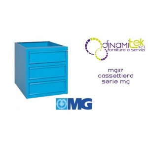MG117 CHEST OF DRAWERS FOR COUNTERS WITH 3 DRAWERS MM 505X620X600H MG MG SERIES Dinamitek 1