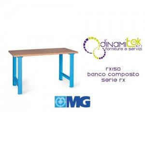 BANCO MODULAR RX150 CON TABLERO DE MADERA MM 1500X700X865H SERIE MG RX Dinamitek 1