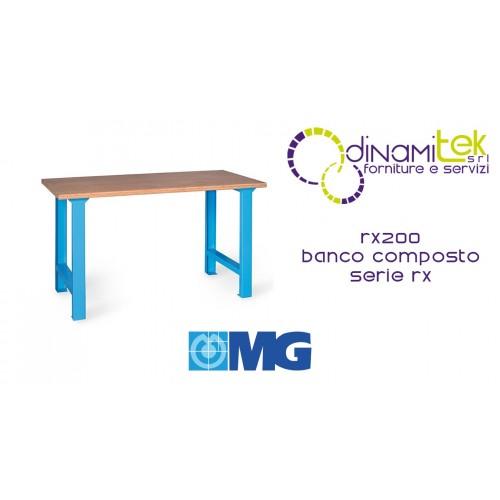 BANCO MODULAR RX200 CON TABLERO DE MADERA MM 2000X700X865H MG SERIES RX Dinamitek 1