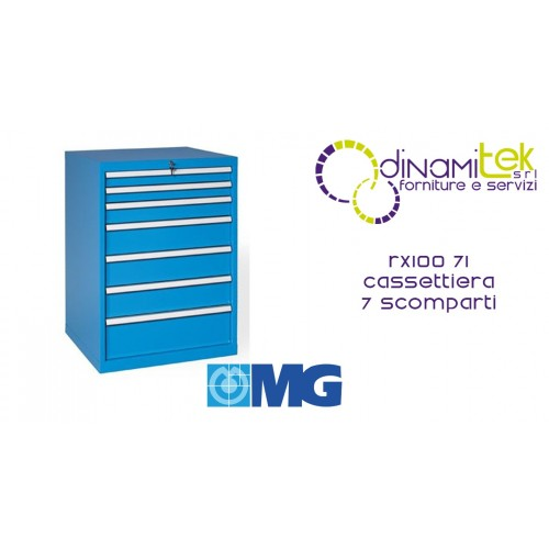 RX100 71 TOOL CHEST 7 FULLY EXTRACTABLE DRAWERS MM 717X640X1000H MG MIDI-RX LINE Dinamitek 1