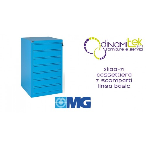 XL100 71 TOOL CHEST 7 FULLY EXTRACTABLE DRAWERS MM 700X620X1000H MG BASIC LINE Dinamitek 1