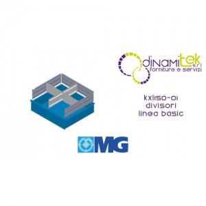 KXL150 01 DIVIDERS FOR DRAWERS MM 150 WITH 2 SLOTTED DIVIDERS AND 6 TRANSVERSAL DIVIDERS MG BASIC LINE Dinamitek 1