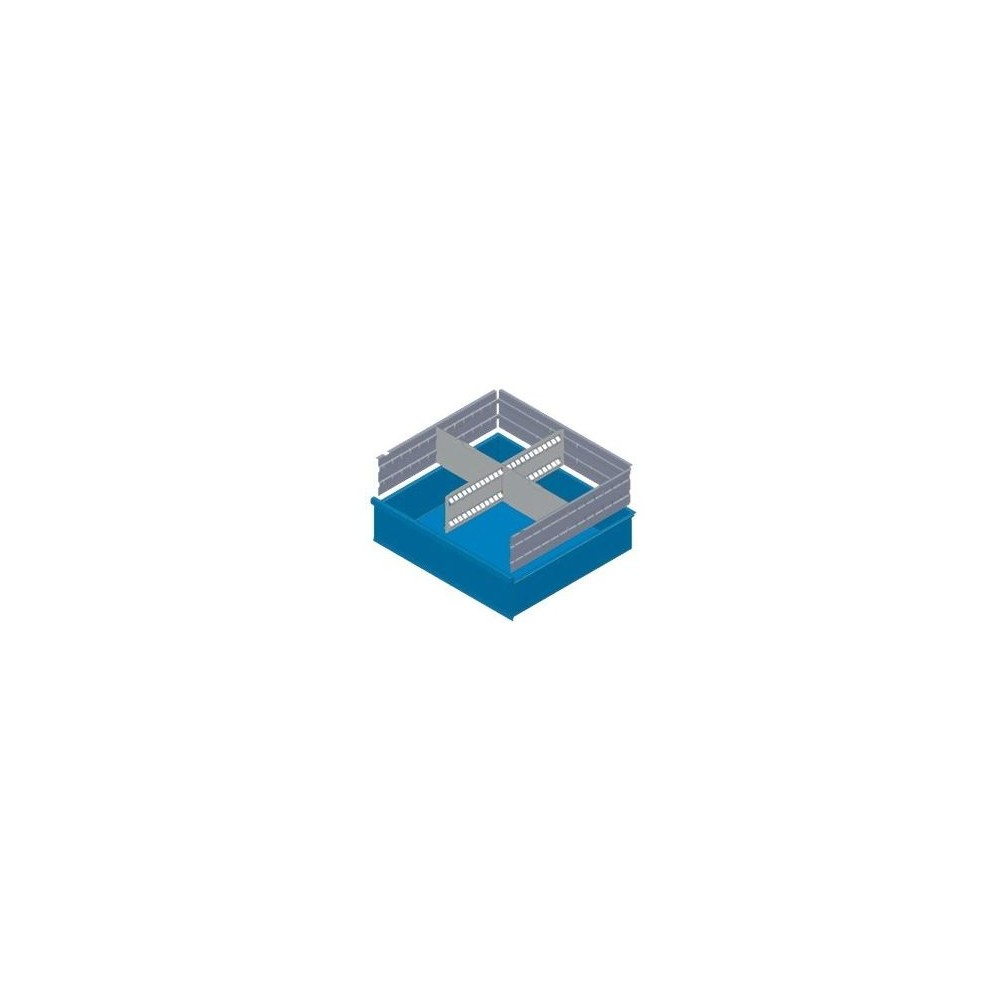 KXL150 01 SéPARATEURS POUR TIROIRS MM 150 AVEC 2 SéPARATEURS FENDUS ET 6 SéPARATEURS TRANSVERSAUX MG BASIC LINE Dinamitek 2
