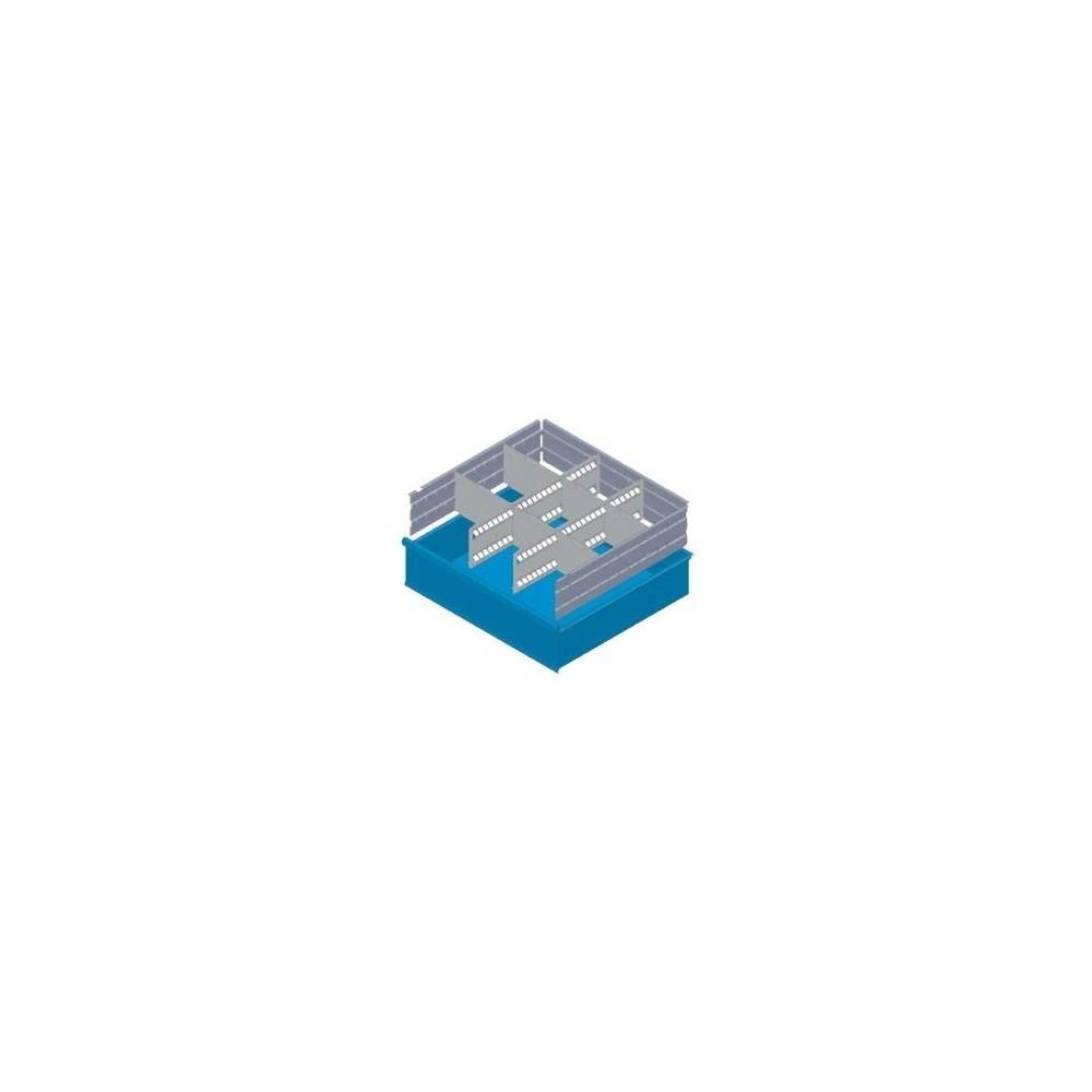 KXL125 02 SéPARATEURS POUR TIROIRS MM 125 AVEC 2 SéPARATEURS FENDUS ET 6 SéPARATEURS TRANSVERSAUX MG BASIC LINE Dinamitek 2