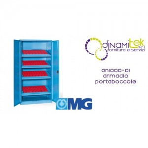 AN1000 01 WARDROBE WITH DOORS WITH 4 FRAMES FOR BUSHINGS (BUSHINGS EXCLUDED) MM 1023X555X2000H MG Dinamitek 1
