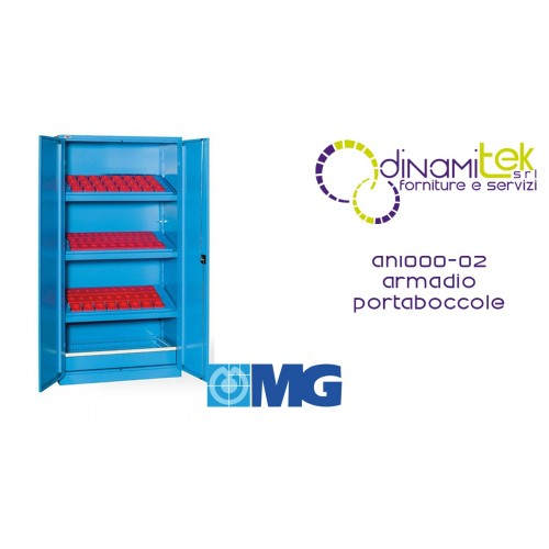 AN1000 02 WARDROBE WITH DOORS WITH 3 FRAMES FOR BUSHINGS (BUSHINGS EXCLUDED) AND DRAWER MM 1023X555X2000 MG Dinamitek 1