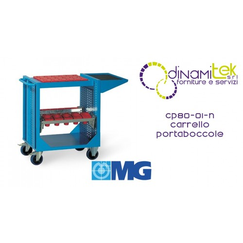 CP80 01N TOOL TROLLEY WITH SHELF AND FRAMES FOR BUSHINGS (BUSHINGS EXCLUDED) MM 745X510X870H MG Dinamitek 1