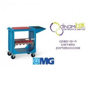 CHARIOT PORTE-OUTILS CP80 01N AVEC TABLETTE ET CADRES POUR COUSSINETS (COUSSINETS EXCLUS) MM 745X510X870H MG Dinamitek 1