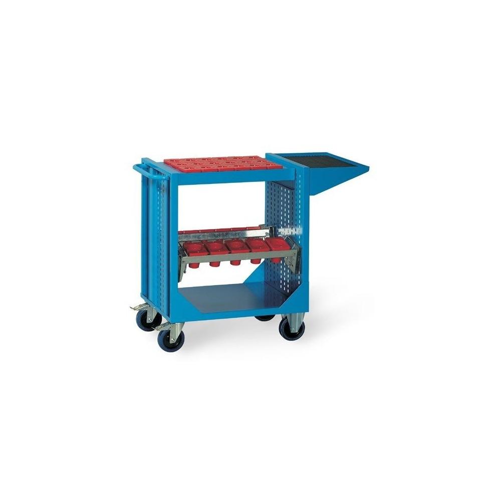 CHARIOT PORTE-OUTILS CP80 01N AVEC TABLETTE ET CADRES POUR COUSSINETS (COUSSINETS EXCLUS) MM 745X510X870H MG Dinamitek 2