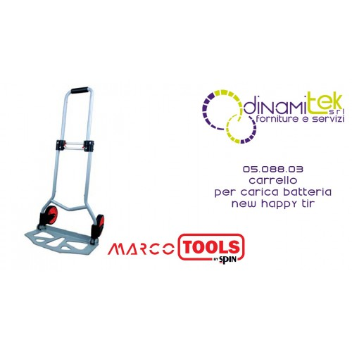 05.088.03 TROLLEY FOR BATTERY CHARGER SPIN MARCO TOOLS NEW HAPPY TIR Dinamitek 1