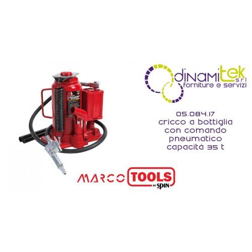 05.084.17 CRICCO A BOTTIGLIA CON COMANDO PNEUMATICO capacità 35 T SPIN MARCO TOOLS Dinamitek 1