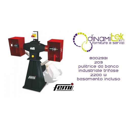 FEMI 8002931 203 PULITRICE DA BANCO INDUSTRIALE TRIFASE 2200W-BASAMENTO INCLUSO Dinamitek 1