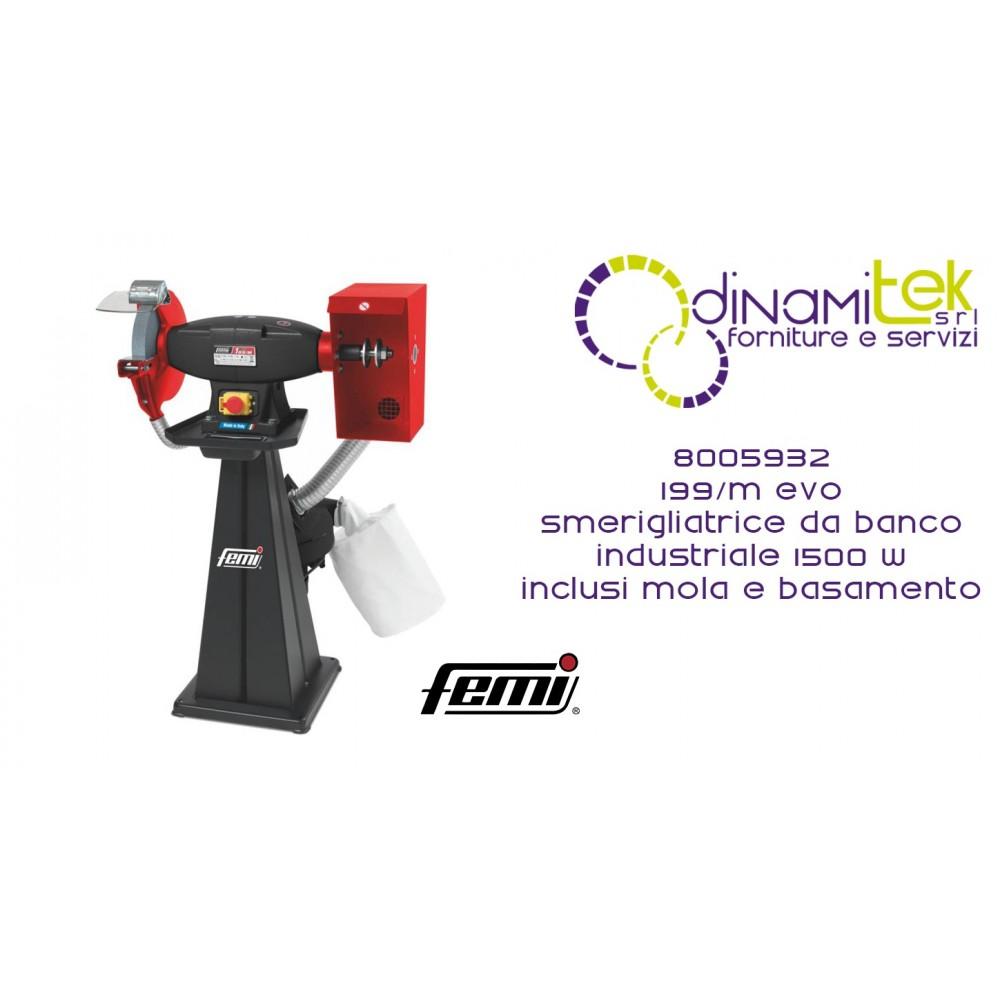 AMOLADORA DE BANCO INDUSTRIAL COMBINADA 199 / M EVO COD 8005932 FEMI Dinamitek 1