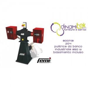 FEMI 8007131 204 PULITRICE DA BANCO INDUSTRIALE TRIFASE 850W-BASAMENTO INCLUSO Dinamitek 1