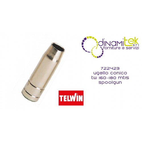 722423 CONICAL NOZZLE TW 160-180 MT15 SPOOLGUN TELWIN Dinamitek 1