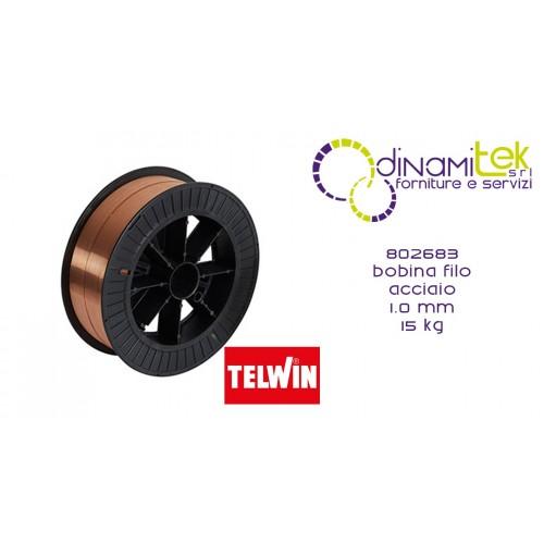 802683 ACCESSORIO SALDATRICE BOBINA FILO ACCIAIO 1.0 mm 15 kg TELWIN Dinamitek 1