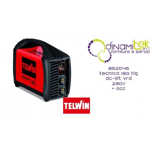 852045 SALDATRICE TECNICA 190 TIG DC-LIFT VRD 230V + ACC. TELWIN Dinamitek 1