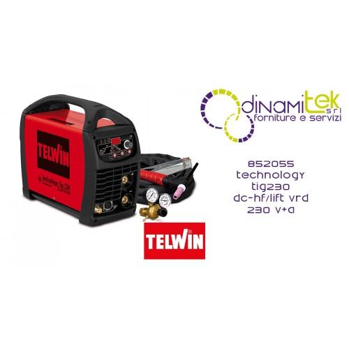 852055 SALDATRICE TECHNOLOGY TIG230 DC-HF/LIFT VRD230V + ACC. TELWIN Dinamitek 1