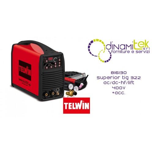 816130 SALDATRICE SUPERIOR TIG 322 AC/DC-HF/LIFT 400V + ACC. TELWIN Dinamitek 1