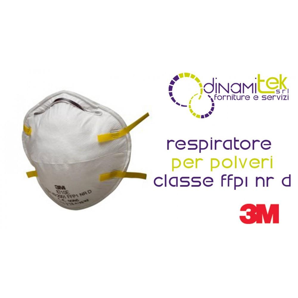 8710E RESPIRATORE FACCIALE FILTRANTE CLASSE FFP1 NR D 3M Dinamitek 1