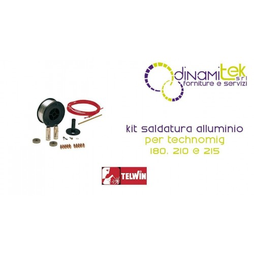 802115 KIT SALDATURA ALLUMINIO TELWIN PER TECHNOMIG 180 210 215 Dinamitek 1