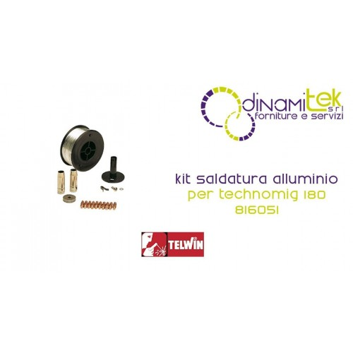 802036 KIT SALDATURA ALLUMINIO TELWIN PER TECHNOMIG 180 Dinamitek 1
