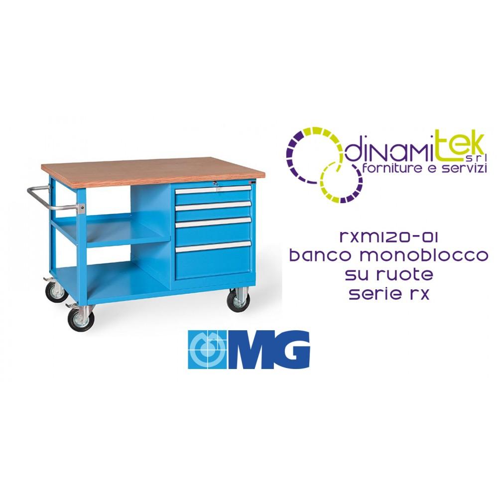 MG RXM120-01 BANCO MONOBLOCCO RUOTE SERIE RX Dinamitek 1