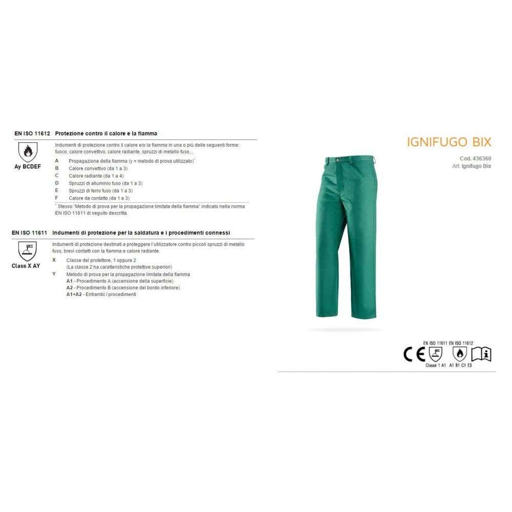 436360 PANTS BIX FLAME RETARDANT GREEN GREENBAY Dinamitek 3