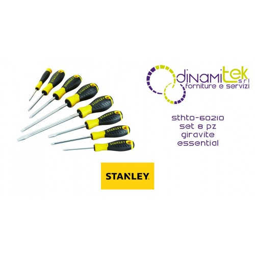 STHT0-60210 SET DE 8 TOURNEVIS STANLEY ESSENTIELS Dinamitek 1
