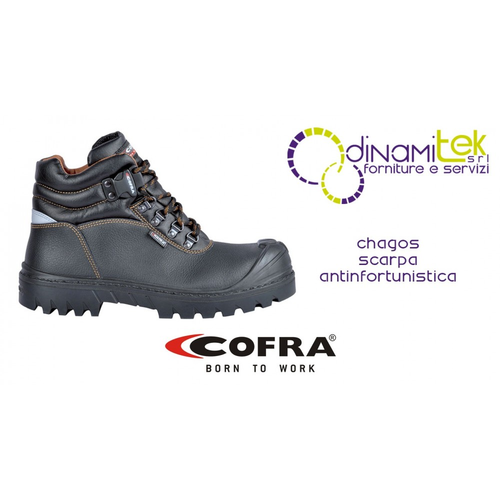 SAFETY BOOT FOR CONSTRUCTION INDUSTRY, CRAFTS AND AGRICULTURE CHAGOS UK S3 HRO SRC COFRA Dinamitek 1
