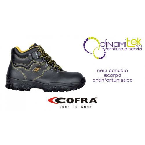 SAFETY SHOE NEW DANUBIO S1-P SRC COFRA TO BE USED IN CONSTRUCTION IN COMPLETE SAFETY Dinamitek 1
