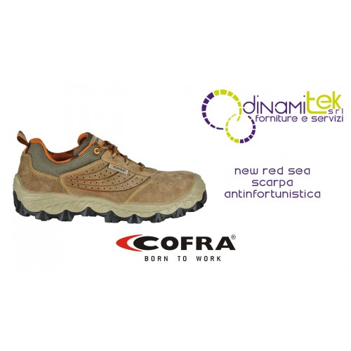 SAFETY SHOE NEW RED SEA S1-P SRC COFRA SUITABLE FOR OUTDOORS FOR THE SAFETY OF ALL WORKERS Dinamitek 1