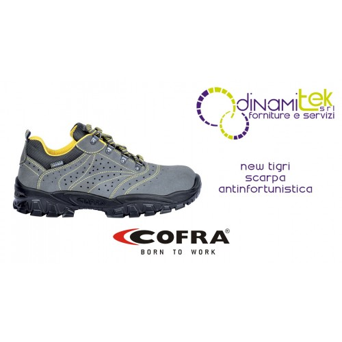 SAFETY SHOE FOR CONSTRUCTION INDUSTRY AND CRAFTS NEW TIGRI S1 P SRC COFRA Dinamitek 1
