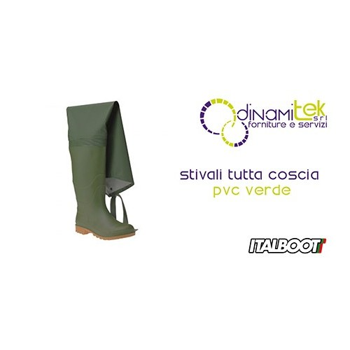0STIVALI TODO EL MUSLO DE PVC VERDE 6350 ITALBOOT Dinamitek 1