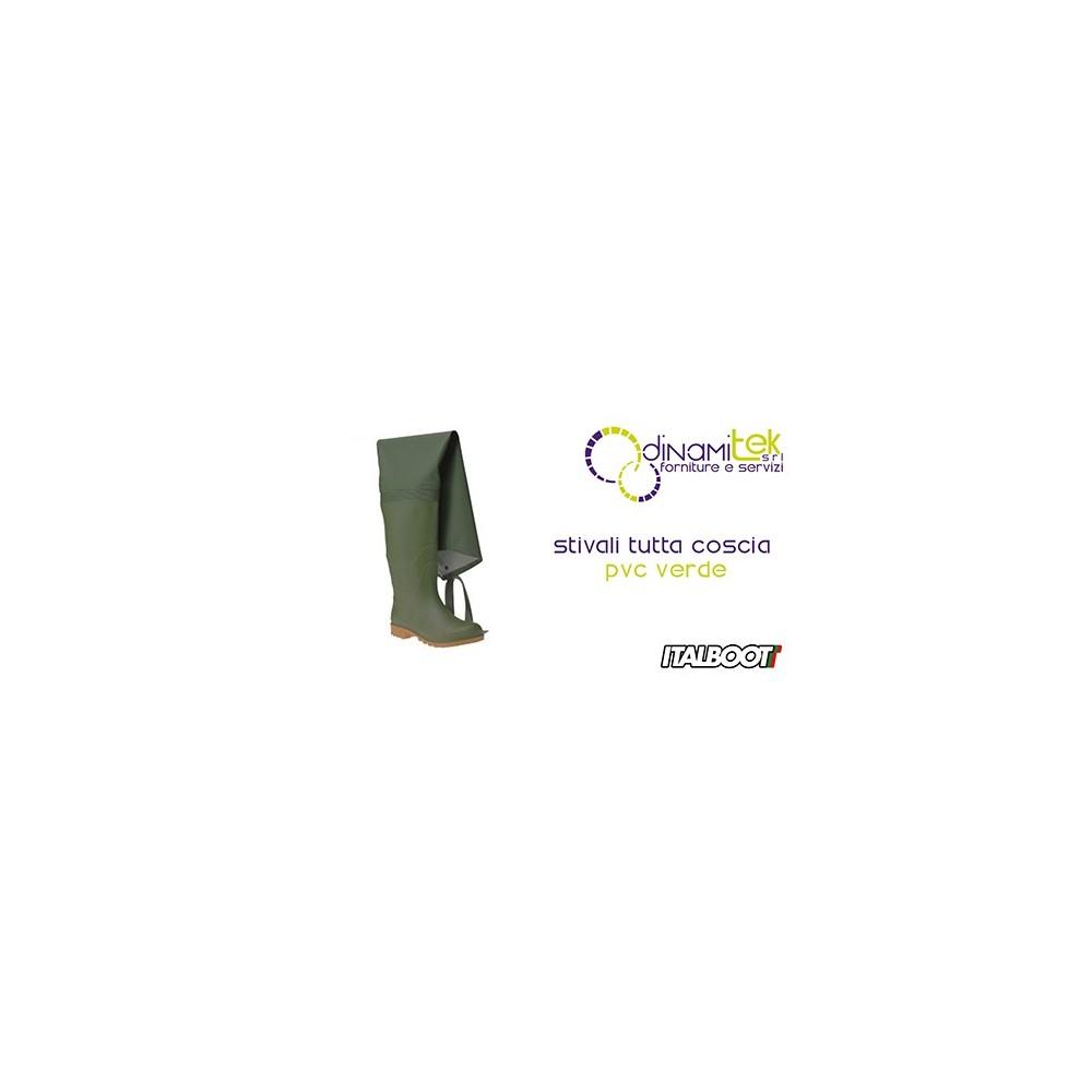06350 STIVALI TUTTA COSCIA PVC - VERDE ITALBOOT Dinamitek 1