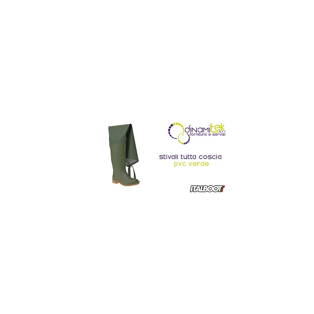 0STIVALI THE WHOLE THIGH PVC - GREEN 6350 ITALBOOT Dinamitek 1