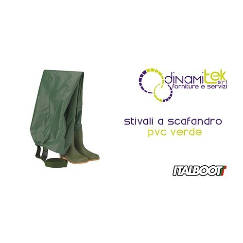06360 STIVALI A SCAFANDRO PVC - VERDE ITALBOOT Dinamitek 1