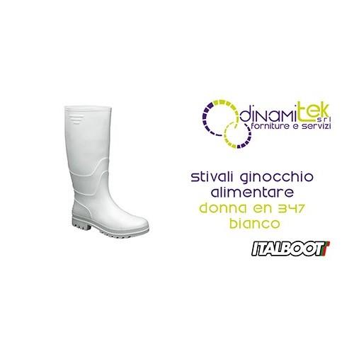 06313 STIVALI GINOCCHIO ALIMENTARE DONNA EN 347 - BIANCO ITALBOOT Dinamitek 1