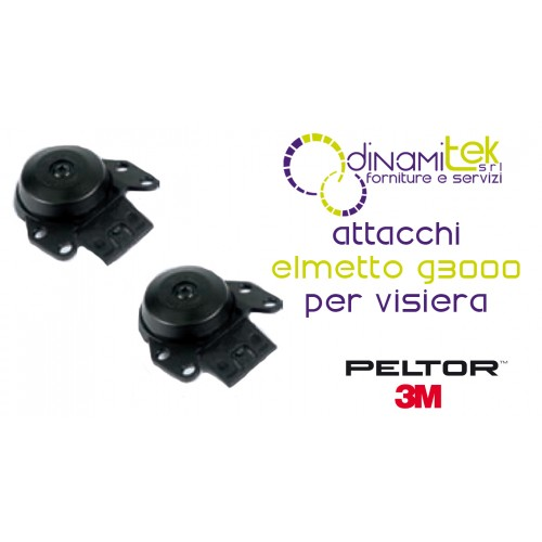 P3EV/2 COPPIA ATTACCHI ELMETTO PELTOR G3000 PER VISIERE 3M Dinamitek 1