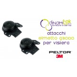 P3EV/2 PAIR ATTACKS THE HELMET PELTOR G3000 FOR VISORS 3M Dinamitek 1