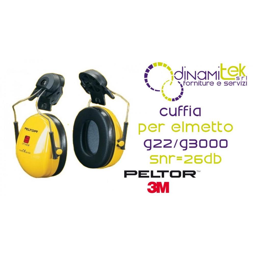 OPTIME I-CUFFIE AURICOLARI ELMETTO G22 G3000-H510P3E-405-GU 3M Dinamitek 1