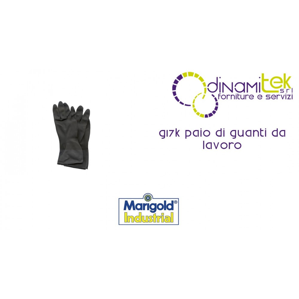 PAIR OF WORK GLOVES G17K MARIGOLD INDUSTRIAL Dinamitek 1