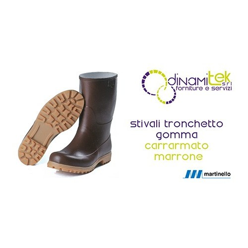 Tronchetto Martinello in gomma naturale marrone con carrarmato Dinamitek 1