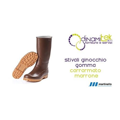 KNEE-HIGH BOOTS MARTINELLO NATURAL RUBBER, BROWN, TANK Dinamitek 1