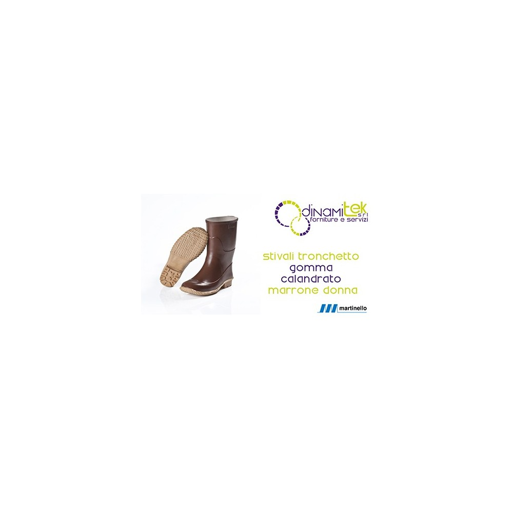 SOCKET MARTINELLO WOMAN WITH NATURAL RUBBER, BROWN, CALENDERED Dinamitek 1