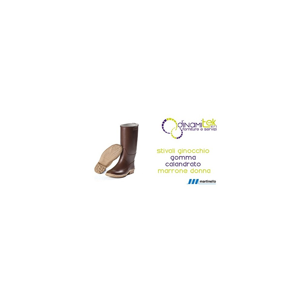 HIGH BOOTS IN NATURAL RUBBER FOR WOMAN, BROWN, MARTINELLO Dinamitek 1