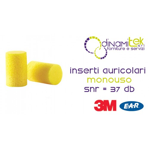CLASSIC-EARPLUGS-DISPOSABLE-CF 250 PAIRS 3M Dinamitek 1