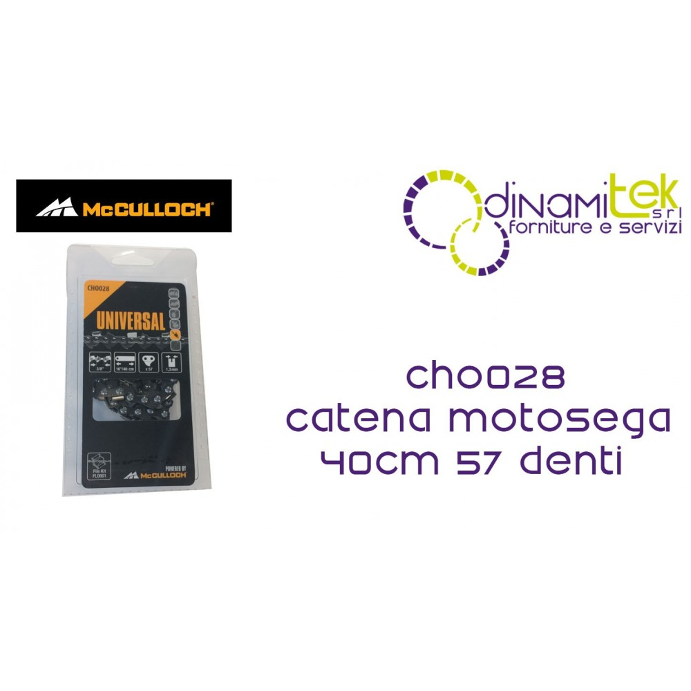 CHO028 CHAIN FOR CHAINSAW 40CM 57 TEETH MCCULLOCH Dinamitek 1