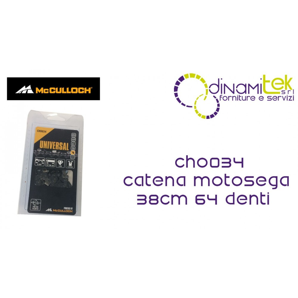 CHO034 CHAIN FOR CHAINSAW 38CM 64 TEETH MCCULLOCH Dinamitek 1